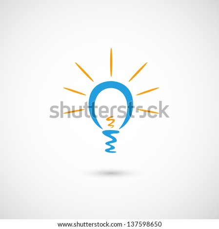 Eco bulb light  jpg (EPS vector version id 131089898,format also available in my portfolio)  - stock photo
