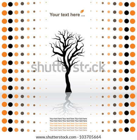 eco concept, black tree on a white background - stock photo