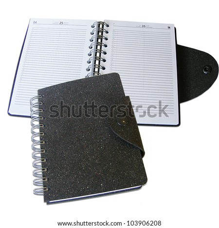 Eco diaries with recycled leather covers - stock photo