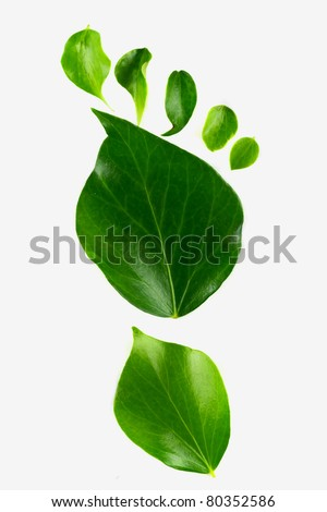 Eco footprint - stock photo