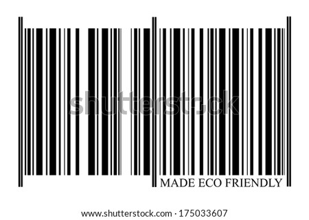 Eco Friendly Barcode on white background