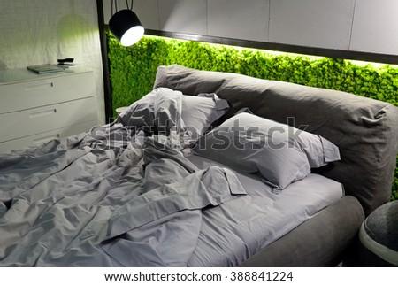 eco-friendly bedroom - stock photo
