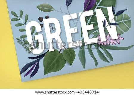 Eco Friendly Earth Day Green Environment Concept - stock photo