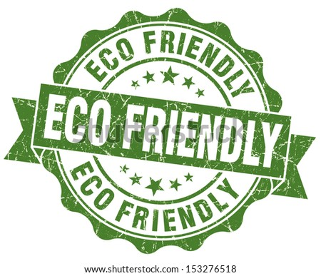 Eco Friendly Grunge Green Stamp - stock photo