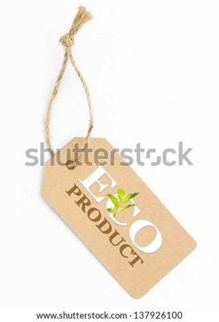 Eco friendly label, eco product - stock photo