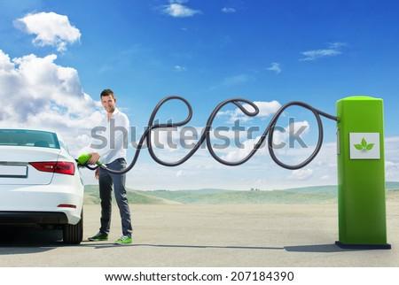 Eco fuel concept - stock photo