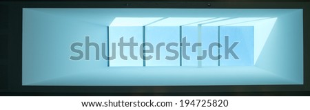 Eco glass transparent roof top - stock photo