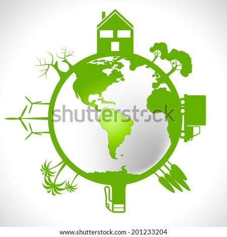 Eco Global Meaning Earth Friendly And Environmentally - stock photo