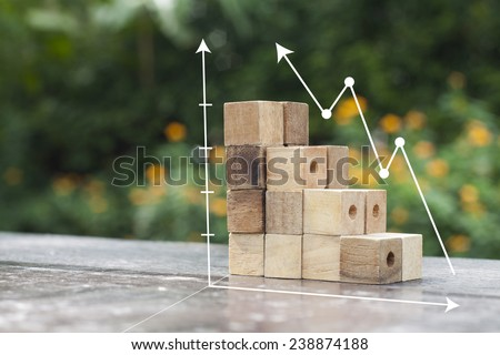 Eco graph chart - stock photo