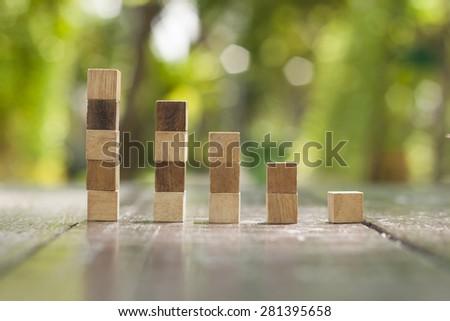 Eco graph chart - stock photo