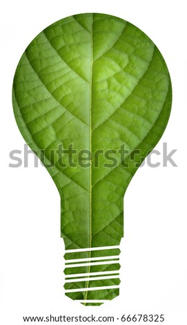 Eco green energy light bulb - stock photo