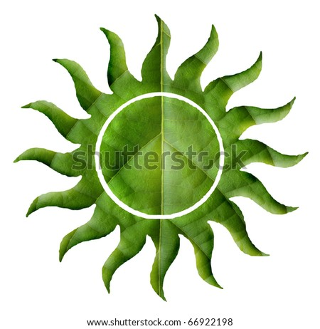 Eco green energy sun - stock photo