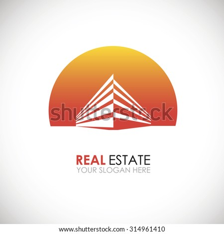 Eco home and real estate logo template. Home, housing, ecological materials, safe environmental
