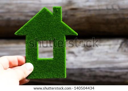 eco house concept - stock photo