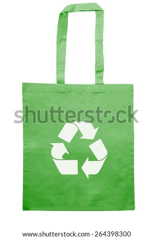 Eco jute bag for shopping isolated on white with clipping path - stock photo