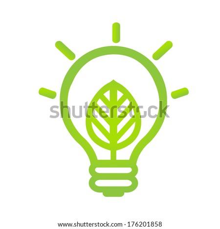 Eco Lamp Symbol - stock photo