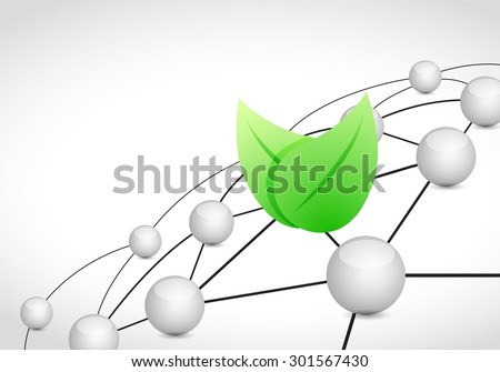 eco link sphere network connection concept illustration design graphic background - stock photo