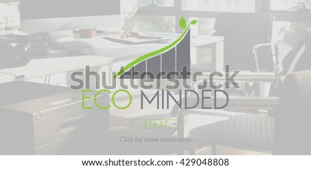 Eco Minded Green Environment Ecology Concept - stock photo