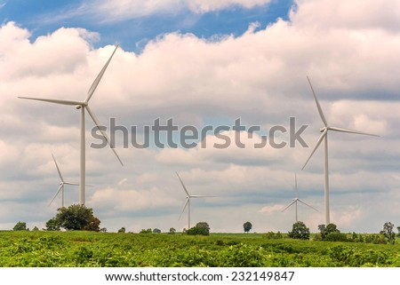 Eco power in wind turbine farm