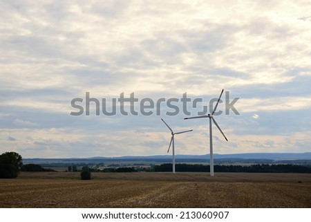 Eco power, wind turbines, wind power.