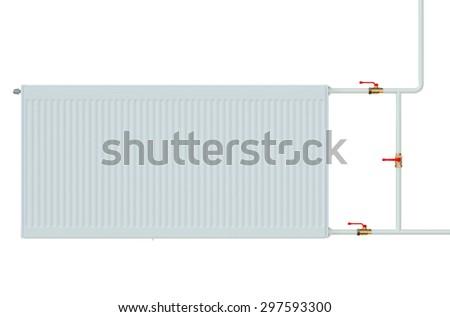 eco radiator closeup isolated on white background - stock photo