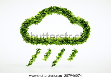 Eco rain sign - with included clipping path - stock photo