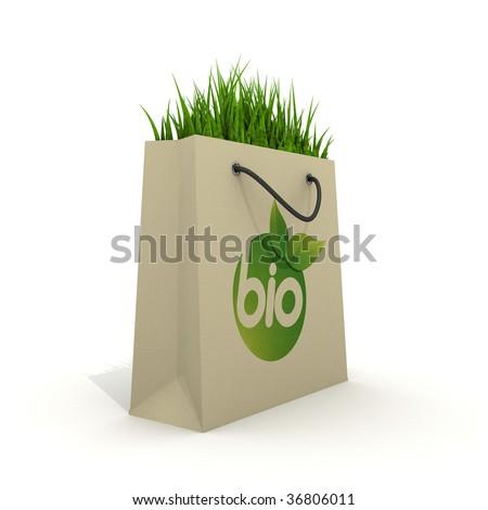 Eco shopping bag - stock photo