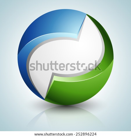 Eco Sphere sign - stock photo