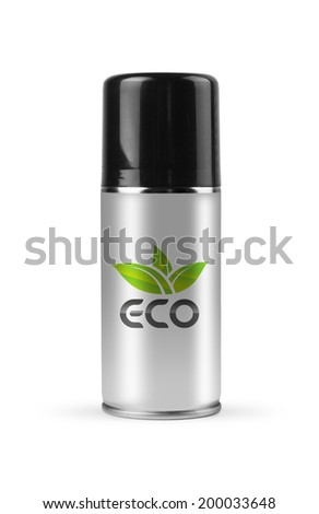 Eco spray with clipping path. - stock photo