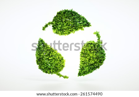 Eco sustainable concept with included clipping path. - stock photo