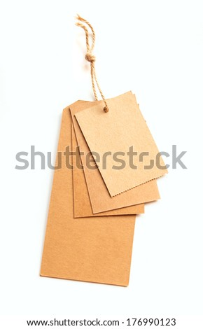 eco tags isolated on white background