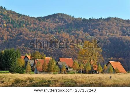 Eco Village - stock photo