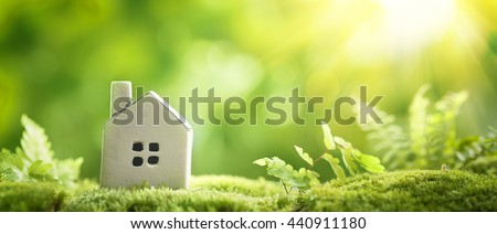 Eco Village, abstract environmental backgrounds - stock photo