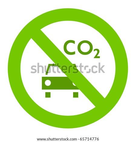 Ecologic sign - stock photo