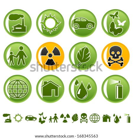 Ecological icons. Raster version of EPS image 27659587