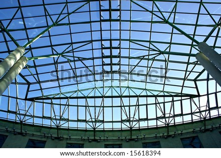 Ecological modern building of library, Europe. - stock photo