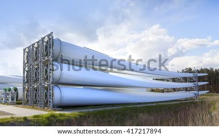 ecological power generation,wind turbine blades  - stock photo