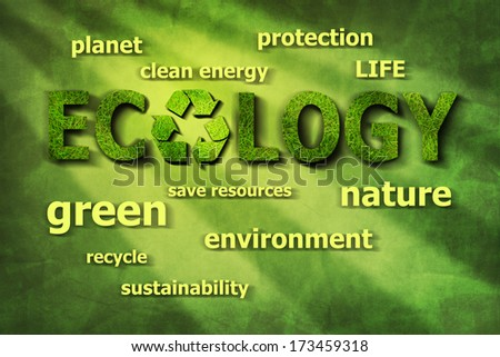 ecological words - stock photo