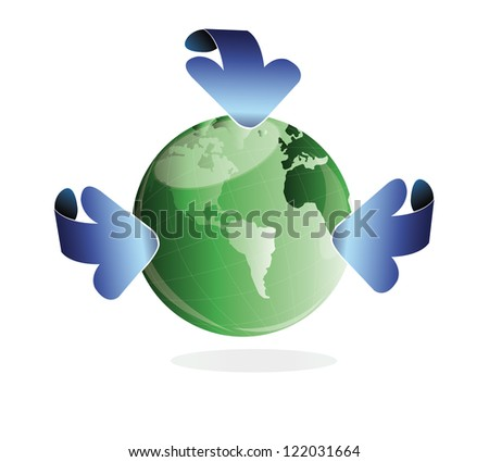 Ecology concept.Abstract background