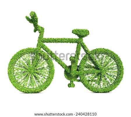 Ecology concept, Clipping path included. - stock photo