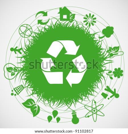 Ecology earth - stock photo