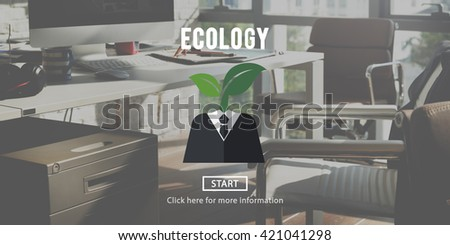 Ecology Environment Conservation Earth Concept - stock photo