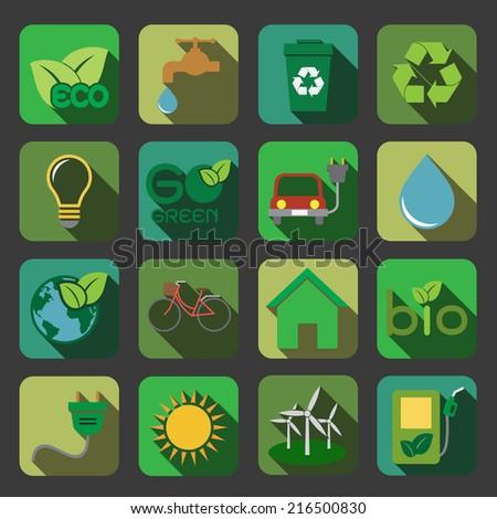 Ecology icon - stock photo
