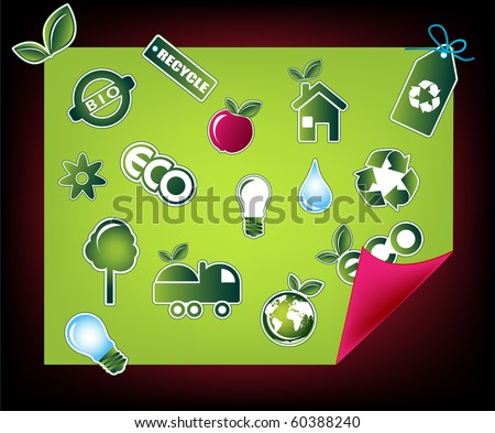 Ecology icons, vector