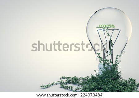 Ecology Nature and Technology. - stock photo