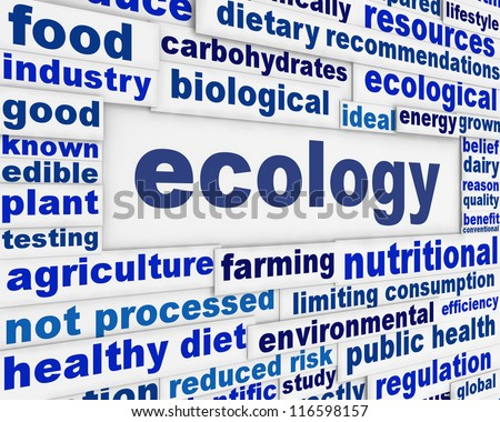 Ecology scientific poster design. Ecological message background