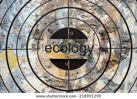 Ecology target - stock photo