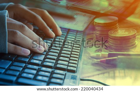 ecommerce concept with technology - stock photo