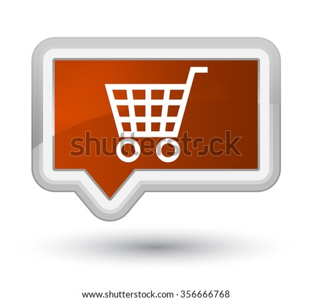 Ecommerce icon brown banner button