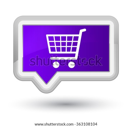 Ecommerce icon purple banner button 2